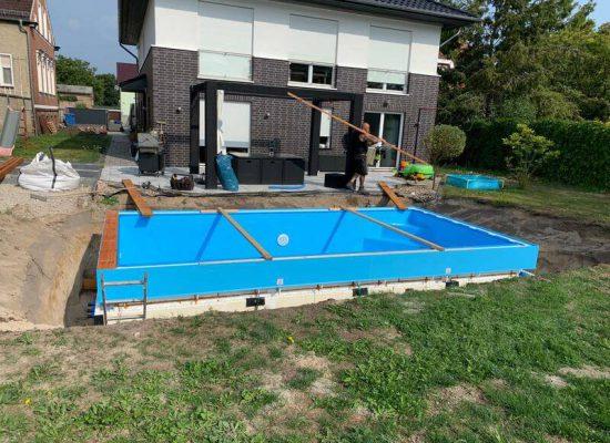 Galabau Koehler Potsdam-Bau eines Pools