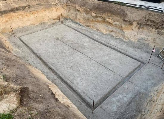 Fundament für Terrasse